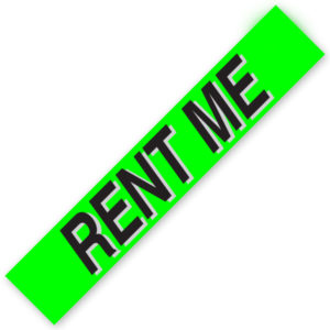 PW-221R3 – RENT ME  Windshield Slogan Signs