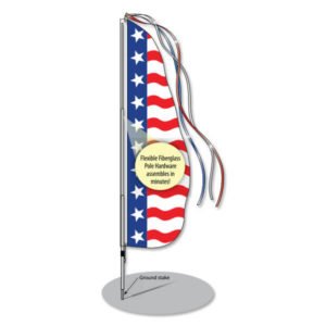 PW-874 Patriotic or Racing Style Feather Dancer® Flags