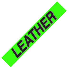 PW-221L3 – LEATHER  Windshield Slogan Signs