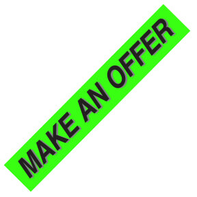 PW-221M1 – MAKE AN OFFER Windshield Slogan Signs
