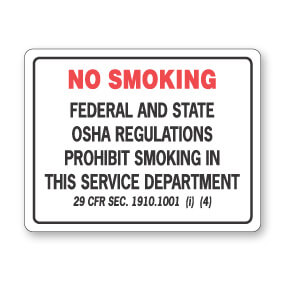 PW-291 No Smoking Sign