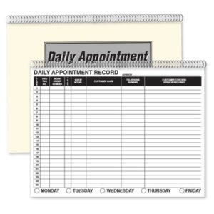 PW-391 Daily Appointment Books