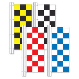 PW-632 Checkered Pole Flags